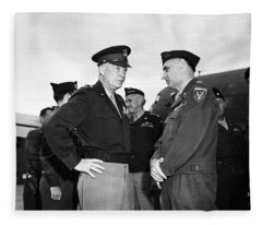 Eisenhower And General Lucius Clay - Berlin - 1945 Fleece Blanket