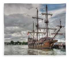 El Galeon Andalucia In Portsmouth Fleece Blanket