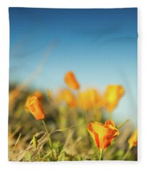 El Paso Poppies Fleece Blanket