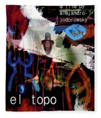 El Topo Film Poster  Fleece Blanket