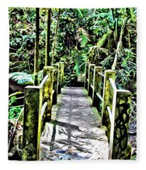 El Yunque Bridge Fleece Blanket