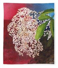 Elderberry Blossom In Watercolor Fleece Blanket
