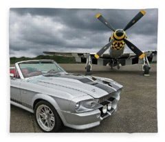 Eleanor Mustang With P51 Fleece Blanket