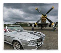 Eleanor Mustang With P51 Fleece Blanket