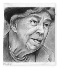 Eleanor Roosevelt Fleece Blanket