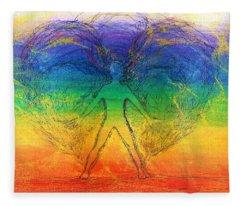 Electric Angel Fleece Blanket