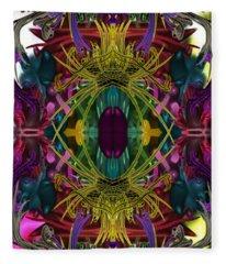Electric Eye Fleece Blanket