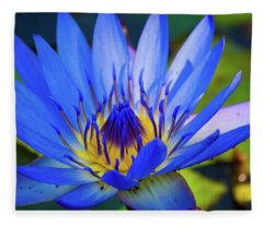 Electric Lily Fleece Blanket