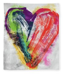 Electric Love- Expressionist Art By Linda Woods Fleece Blanket