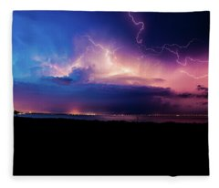 Electric Night Fleece Blanket