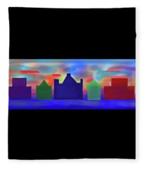Electric Sunrise Fleece Blanket