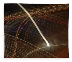 Fleece Blanket featuring the pyrography Electric Universe by Michael Lucarelli
