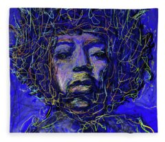 Electrifying Hendrix Fleece Blanket