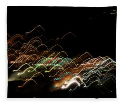Fleece Blanket featuring the pyrography Electronic Landscape by Michael Lucarelli