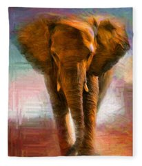 Elephant 1 Fleece Blanket