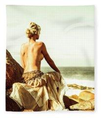 Elegant Classical Beauty  Fleece Blanket