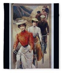 Elegant Fongers Vintage Stylish Cycle Poster Fleece Blanket
