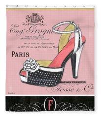 Elegant French Shoes 2 Fleece Blanket