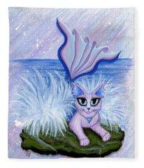 Elemental Water Mermaid Cat Fleece Blanket