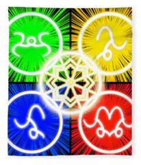 Fleece Blanket featuring the digital art Elements Of Consciousness by Shawn Dall