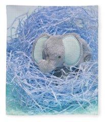Elephant For Charity Blue Fleece Blanket