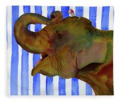 Elephant Joy Fleece Blanket