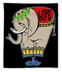 Elephant Life  Fleece Blanket