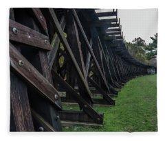 Harpers Ferry Elevated Railroad Fleece Blanket