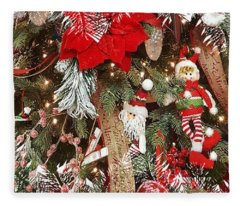 Elf In A Tree Fleece Blanket