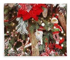 Elf In A Tree Fleece Blanket