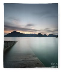 Elgol At Sunset Fleece Blanket