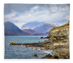 Elgol Beach #h4 Fleece Blanket