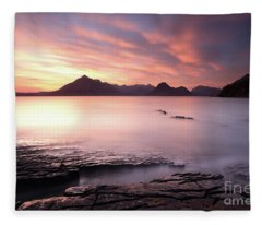 Elgol Sunset Fleece Blanket