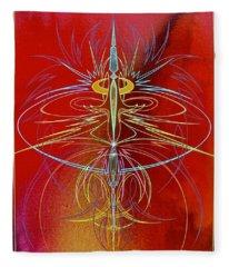 Elijah's Whirl Wind  Fleece Blanket