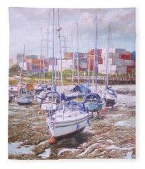 Eling Yacht Southampton Containers Fleece Blanket