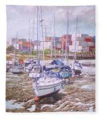 Eling Yacht Southampton Containers Fleece Blanket