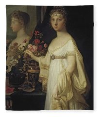 Elisabeth Alexeievna By Jean Laurent Mosnier  Location Unknown To Gogm Fleece Blanket