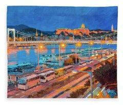 Elisabeth Bridge With Lights Fleece Blanket