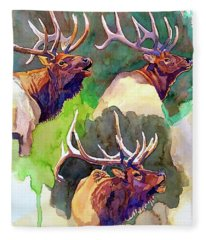Elk Studies Fleece Blanket