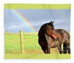 Ella And The Rainbows Fleece Blanket