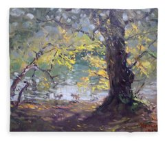 Ellicott Creek Island Park Fleece Blanket