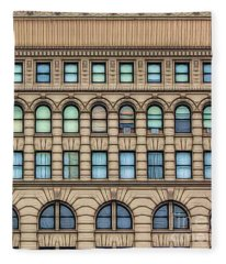 Ellicott Square Building Buffalo Ny Ink Sketch Effect Fleece Blanket