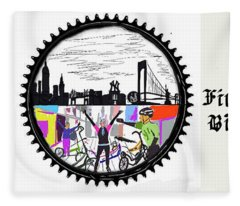 elliptiGO meets the 5 boros bike tour Fleece Blanket