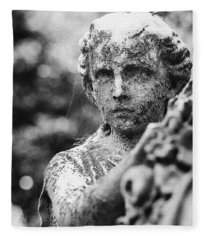 Elmwood Cemetery - Cassie Hill Bw Fleece Blanket