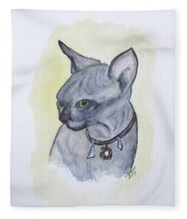 Else The Sphynx Kitten Fleece Blanket
