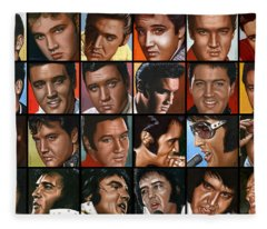Elvis 24 Fleece Blanket