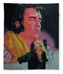 Elvis And Jon Fleece Blanket