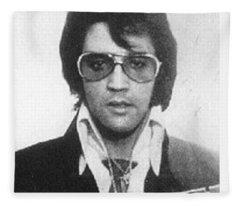Elvis Presley Mug Shot Vertical Fleece Blanket