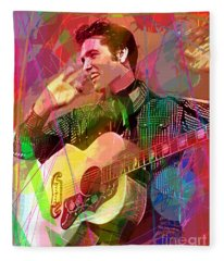 Elvis Rockabilly  Fleece Blanket