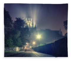 Ely Cathedral - Night Fleece Blanket
